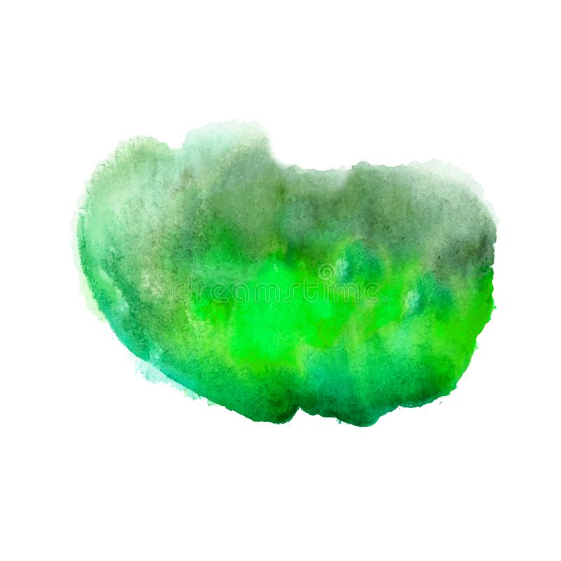 绿色明亮的丙烯酸漆摘要monotyped斑点 向量例证