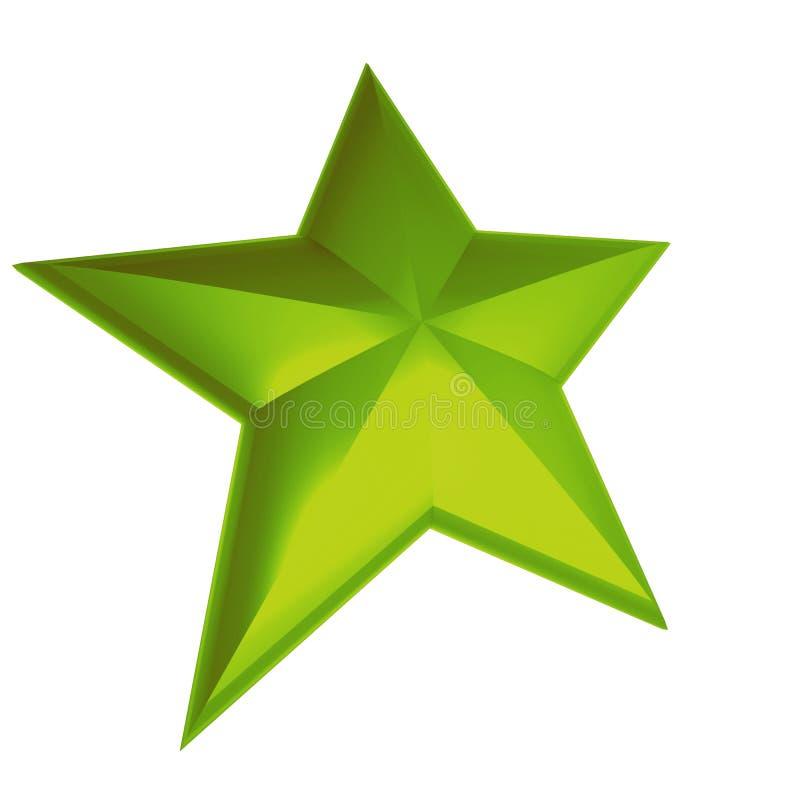 绿色星形 库存例证