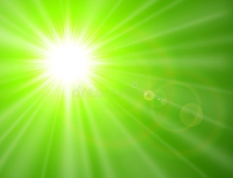 绿色晴朗的背景 库存例证