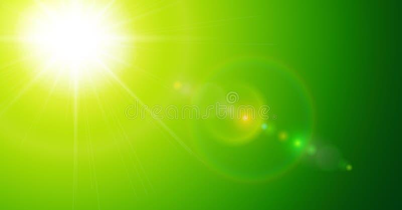 绿色晴朗的背景 向量例证