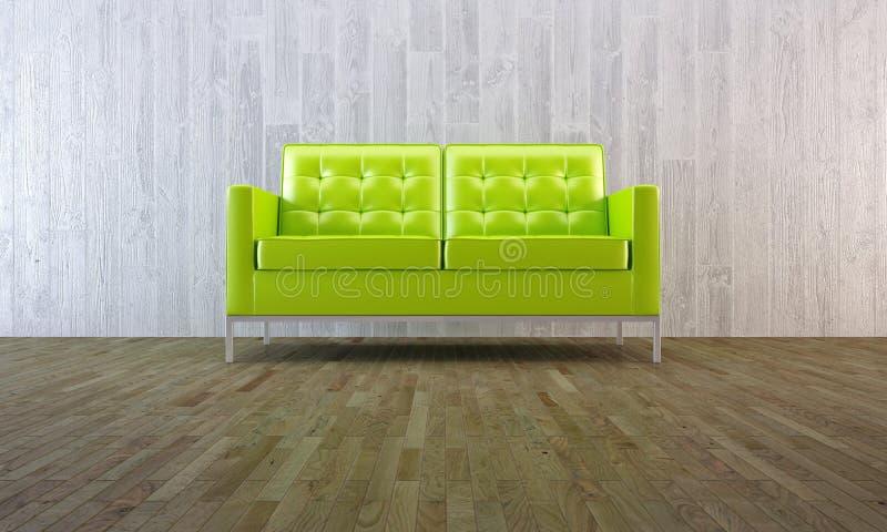 绿色最小的沙发样式 库存图片