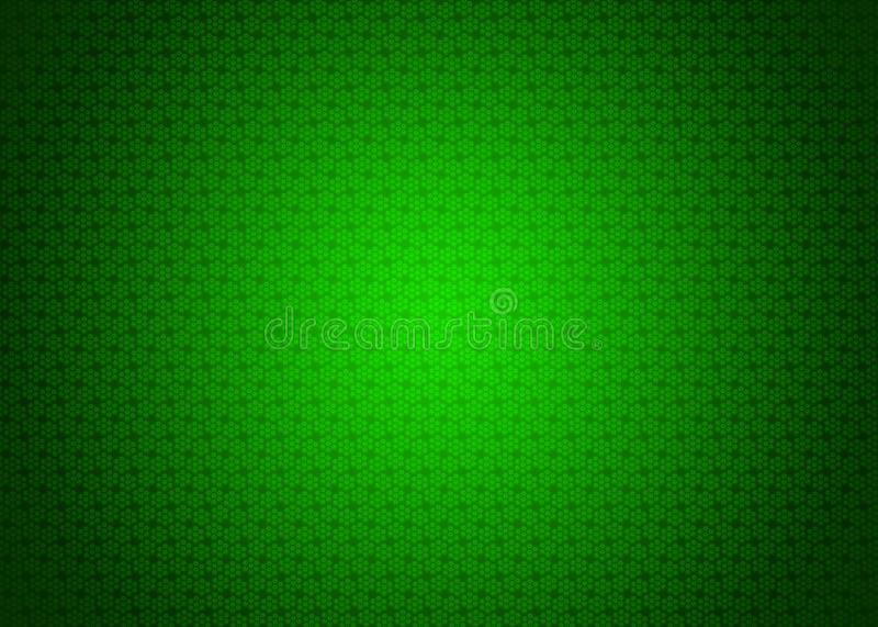 绿色未来派新日本黑暗和轻的Techno数字式东方装饰样式纹理背景例证墙纸 库存例证
