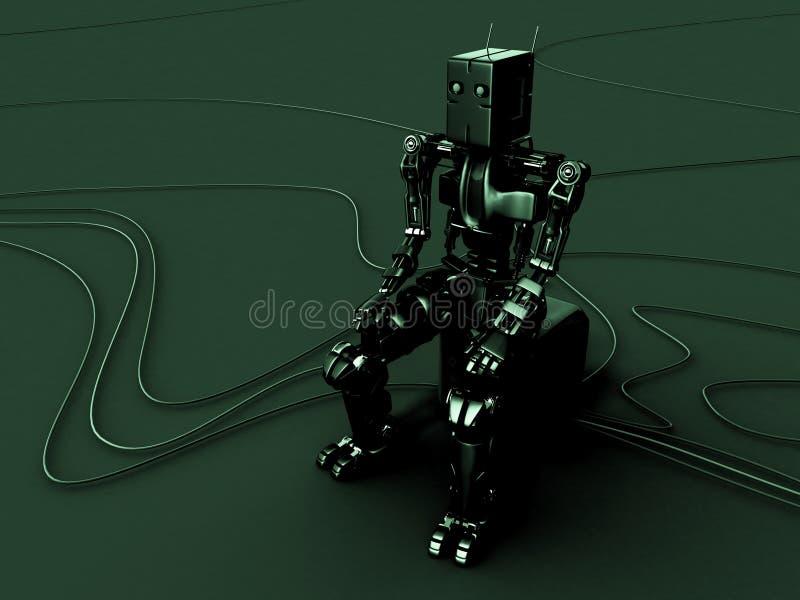 绿色机器人 向量例证