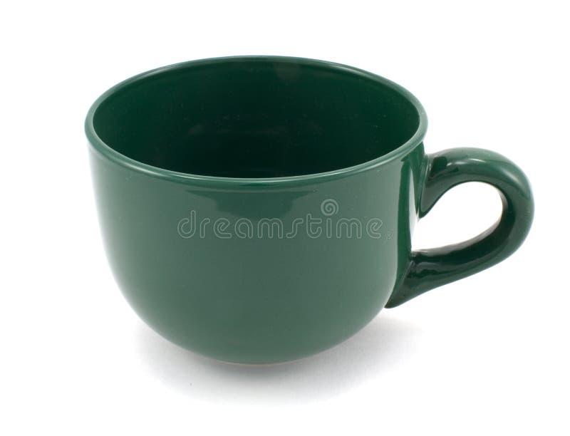 绿色杯子 免版税库存照片