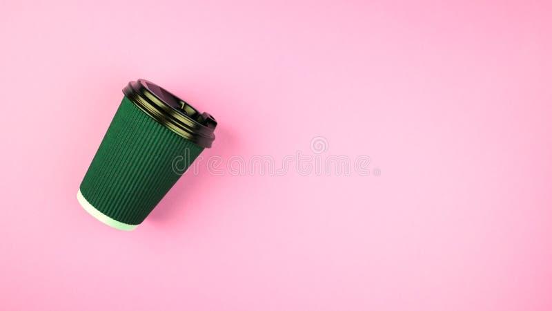 绿色杯子 E 免版税库存照片