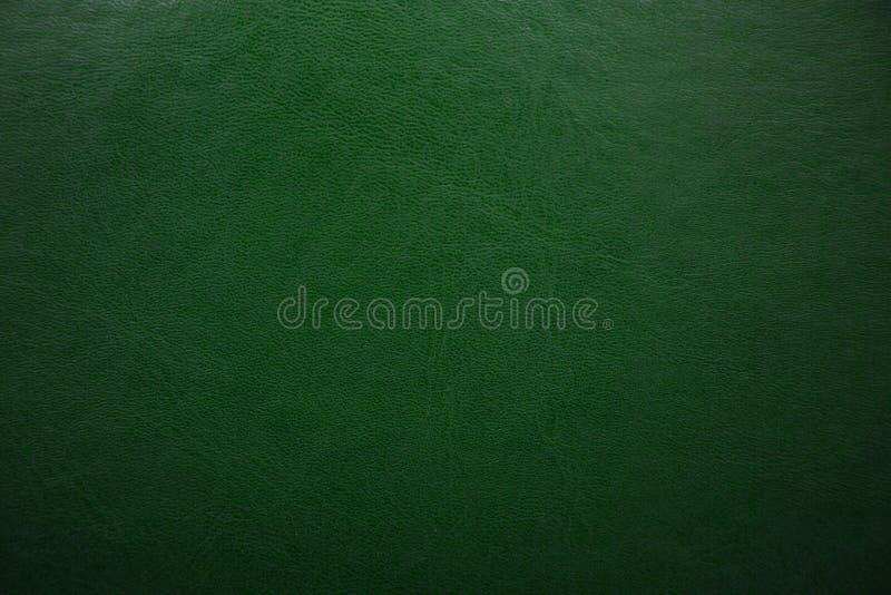绿色构造了皮革背景 抽象皮革纹理 免版税库存照片