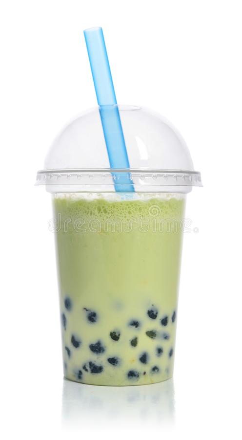 绿色果子泡影茶 免版税库存照片