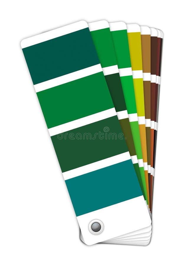 -绿色染黑的颜色指南 库存照片