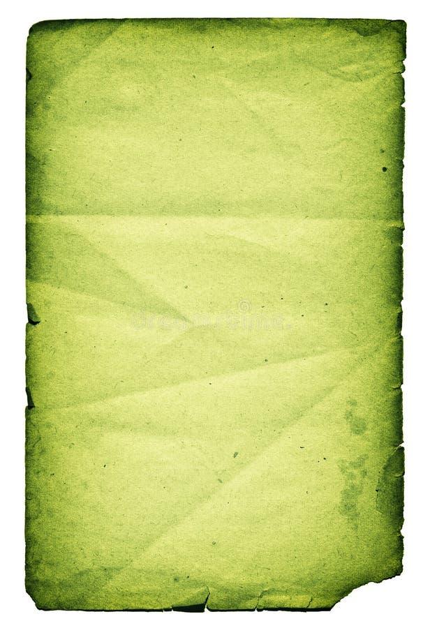 绿色查出的页纸张 免版税库存照片