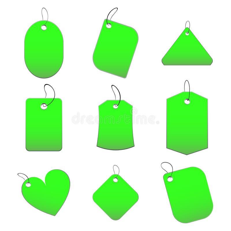 绿色标签 皇族释放例证