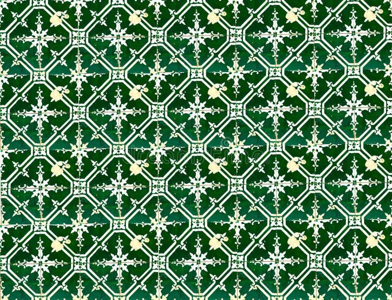 绿色样式瓦片的汇集 皇族释放例证