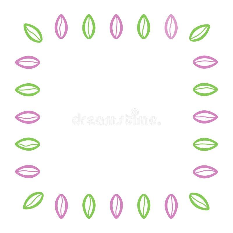 绿色桃红色动画片行情讲话植物群象 引证的空的地方正方形,为想法,论坛,闲谈,评论,照片援引,迅速增加 库存例证