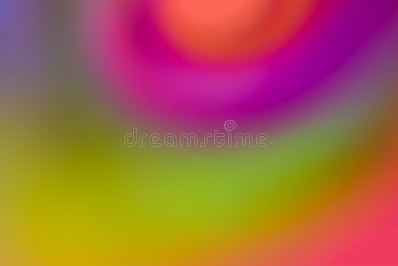 绿色桃红色紫色条纹旋涡水彩的明亮的五颜六色的旋涡混合绘设计艺术样式光空军基地 库存例证