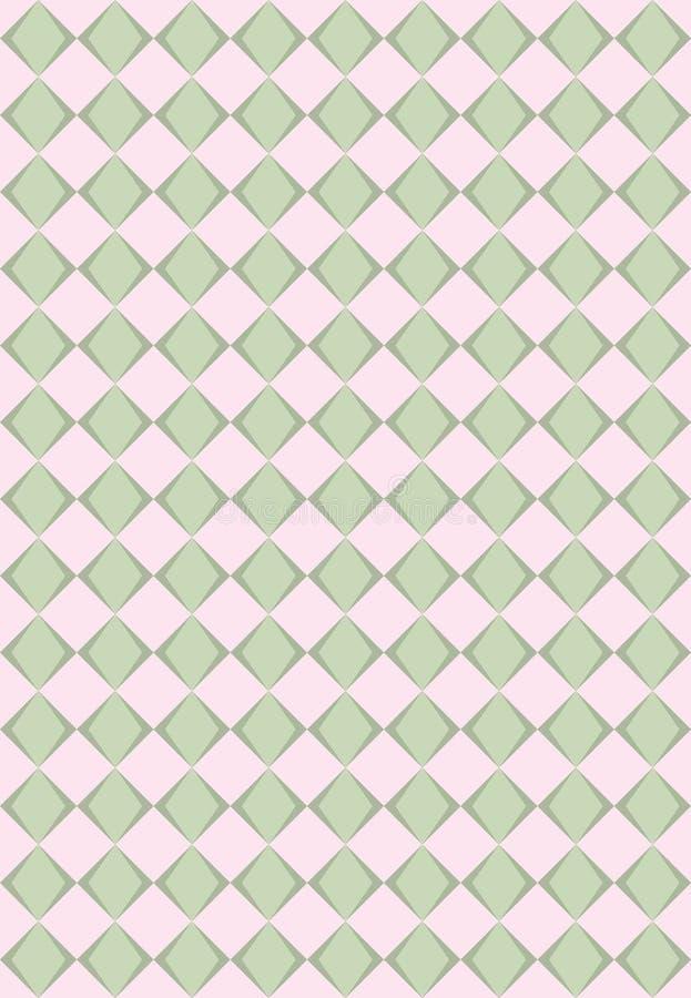 绿色桃红色菱形纹理 向量例证
