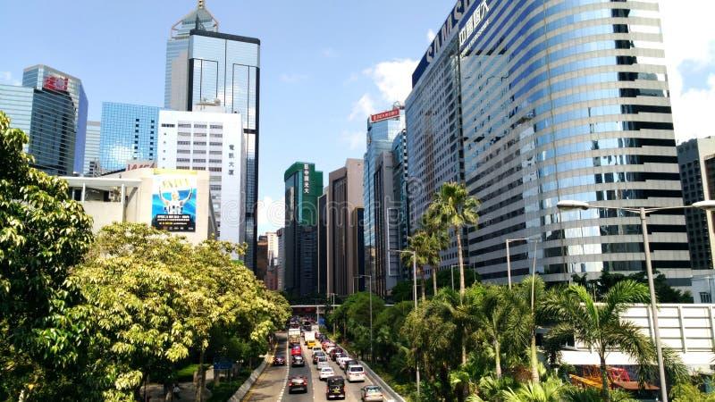 绿色框架在城市 免版税库存照片