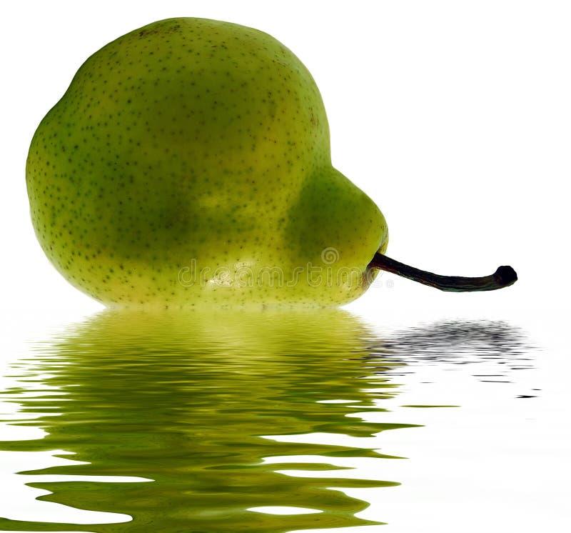 绿色梨水 免版税库存照片