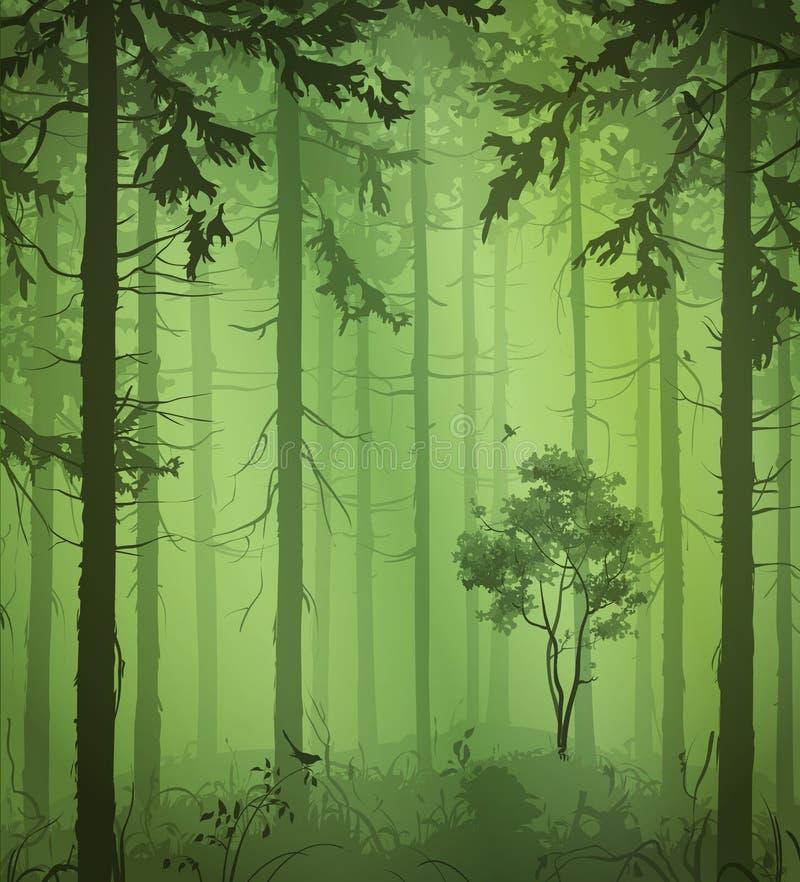 绿色森林 皇族释放例证