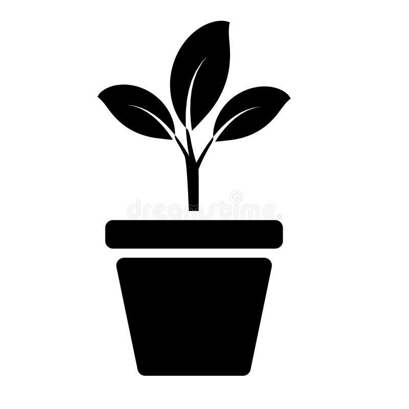 绿色植物颜色象传染媒介 植物例证标志 对网站 向量例证