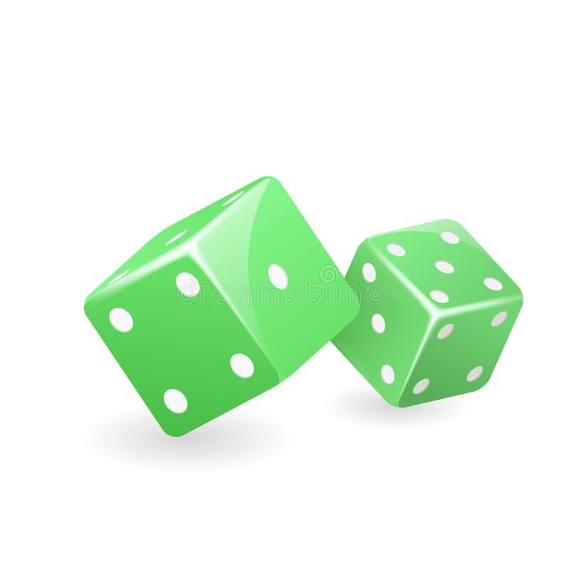 绿色模子3d现实赌博娱乐场赌博游戏deisgn被隔绝的象传染媒介例证 皇族释放例证