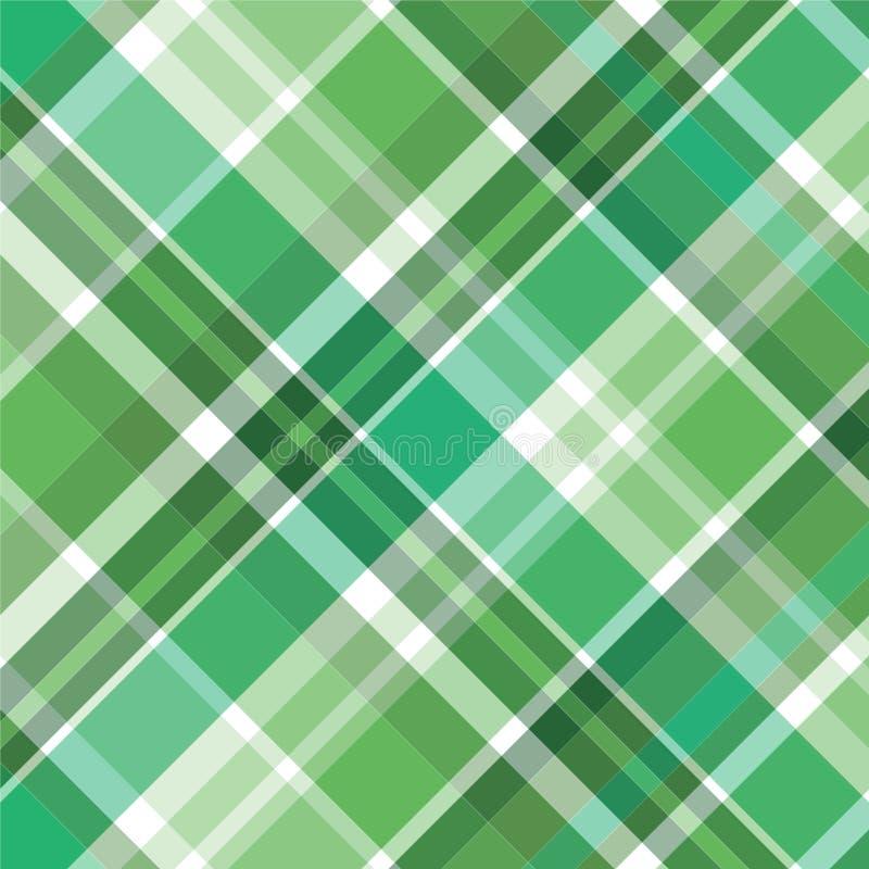 绿色模式格子花呢披肩 库存例证