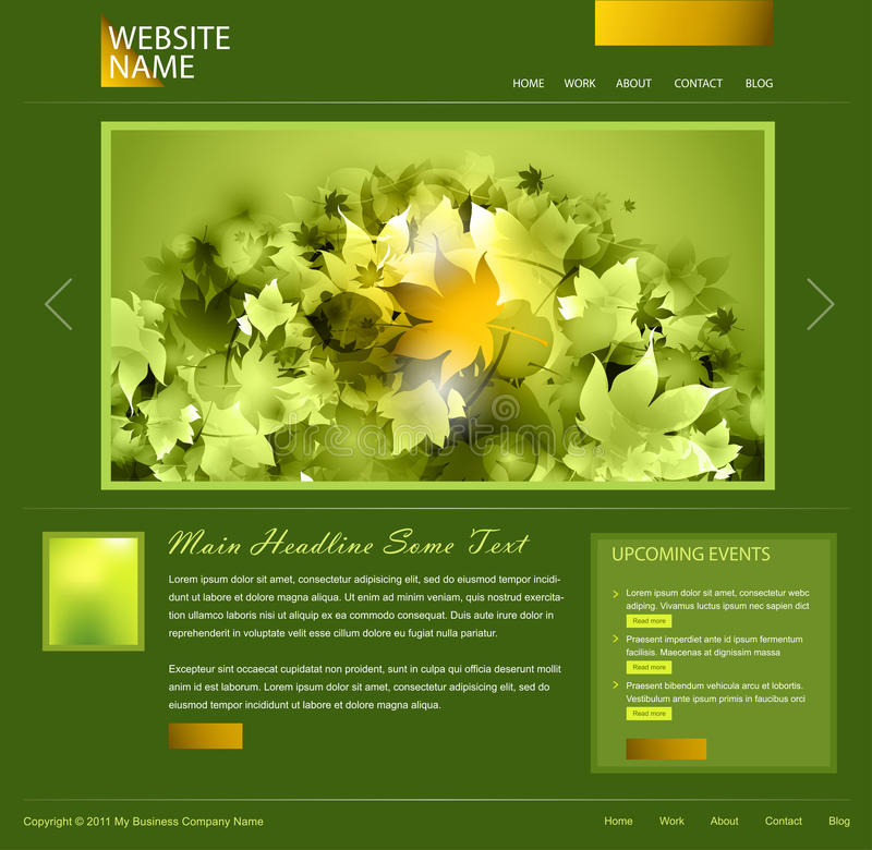 绿色模板网站 向量例证