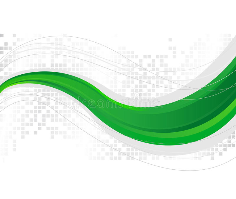 绿色模板通知 向量例证