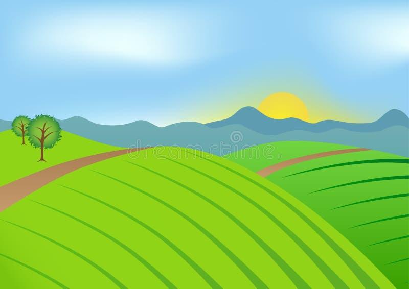 绿色横向 免版税库存照片