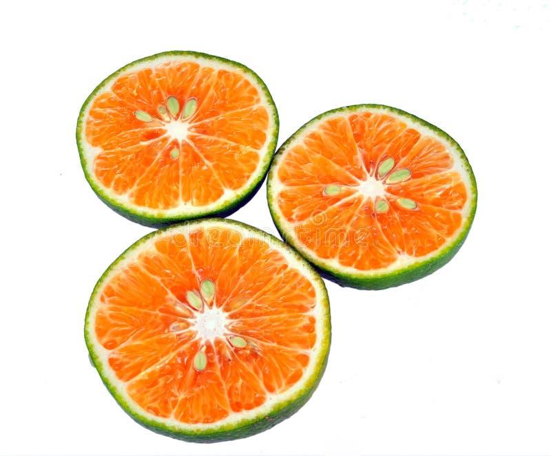 绿色橙色片式 免版税库存照片