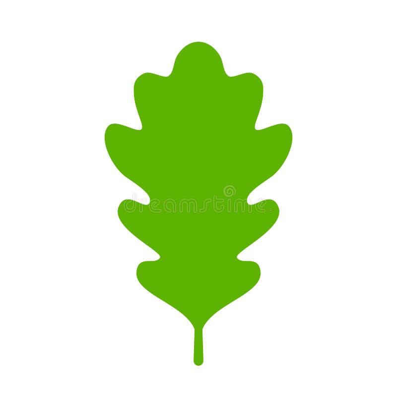 绿色橡木叶子象 库存例证