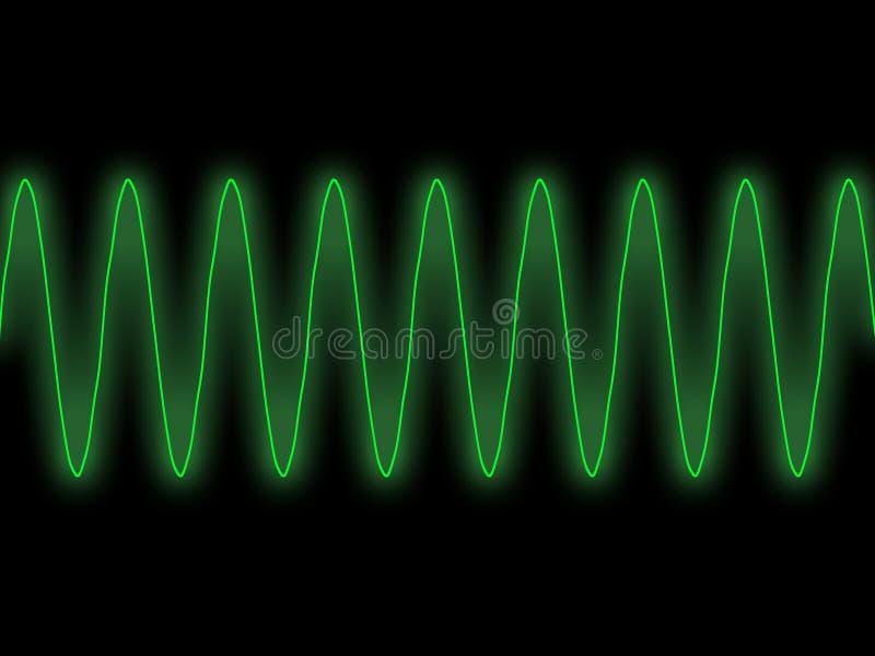 绿色正弦波 皇族释放例证