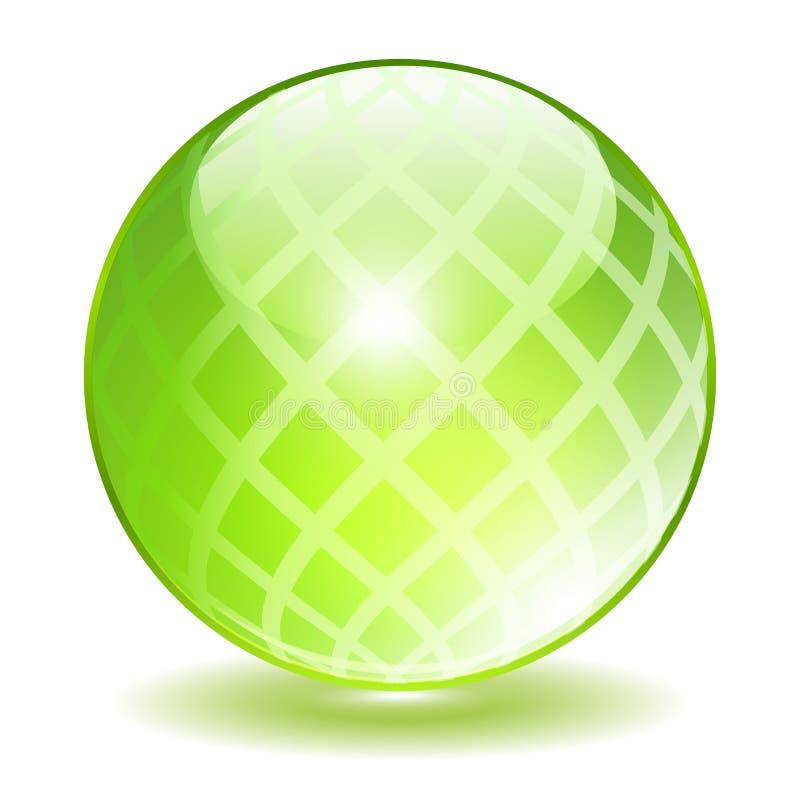绿色水晶传染媒介天体 皇族释放例证