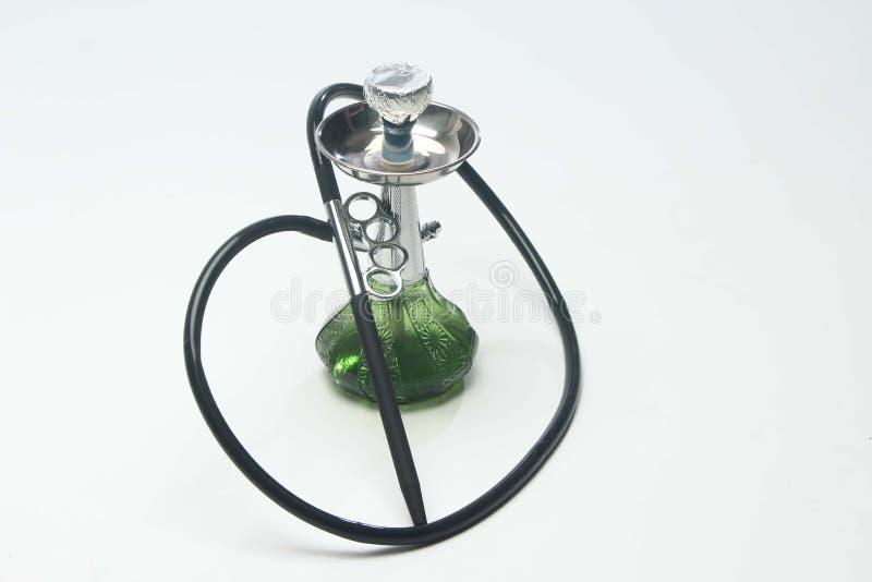 绿色水烟筒 免版税库存图片