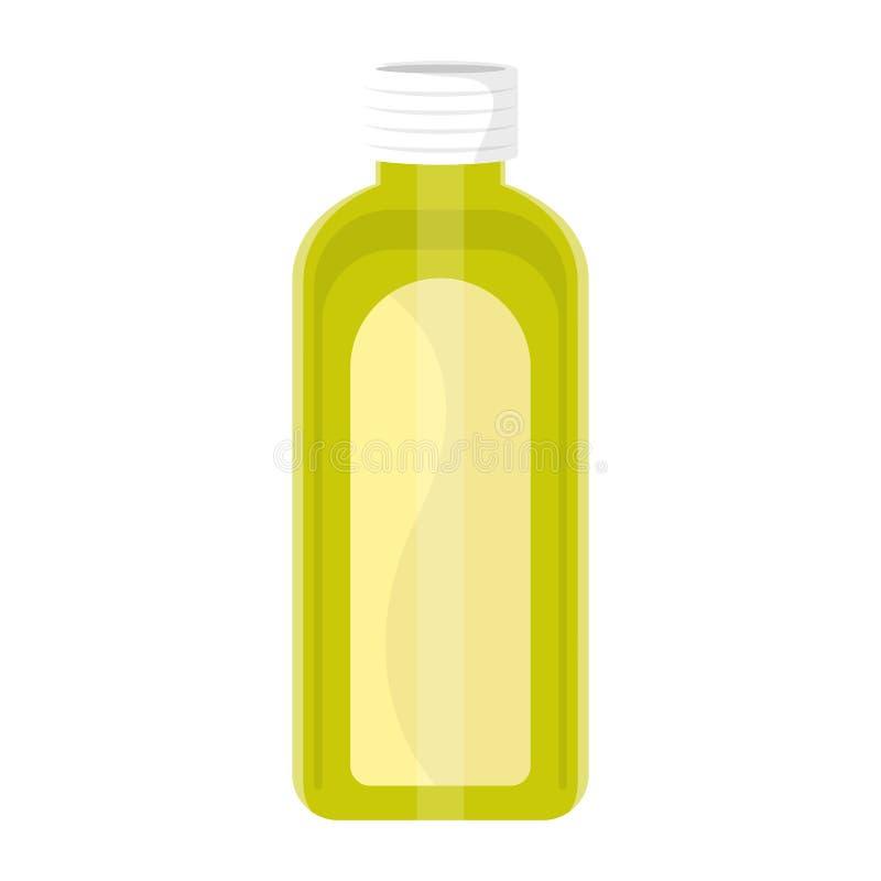 绿色汁液瓶 皇族释放例证
