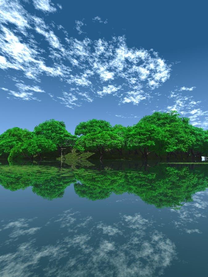 绿色池塘v 皇族释放例证