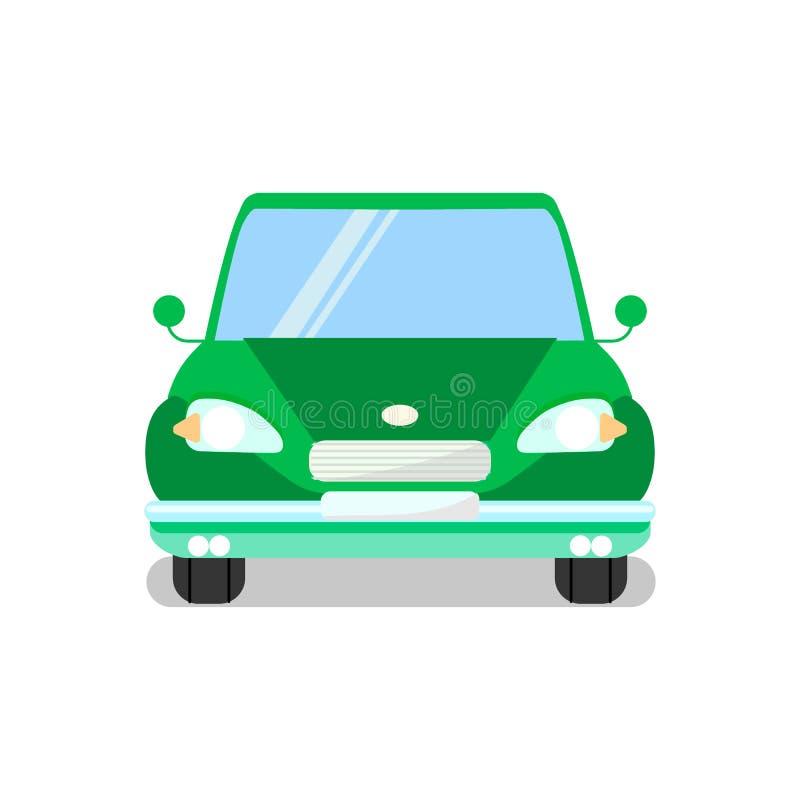 绿色汽车,汽车平的传染媒介例证 库存例证