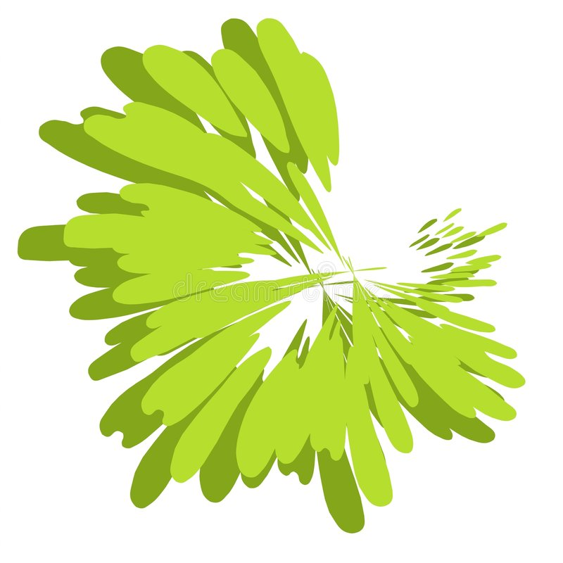 绿色油漆泼溅物纹理 库存例证