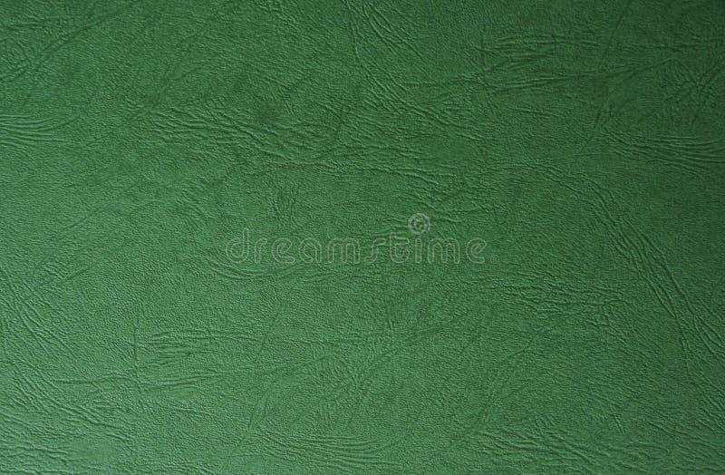 绿色油漆皮革纹理 有用为与拷贝空间的抽象背景 免版税图库摄影