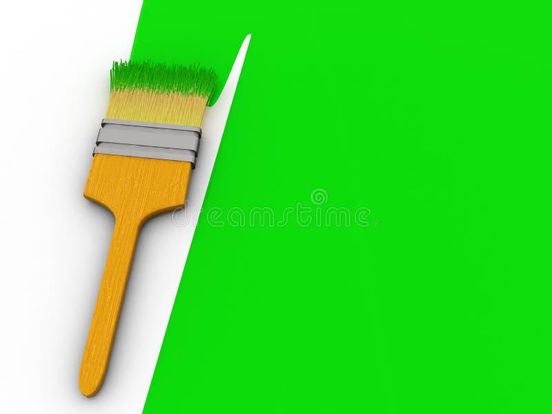 绿色油漆 皇族释放例证