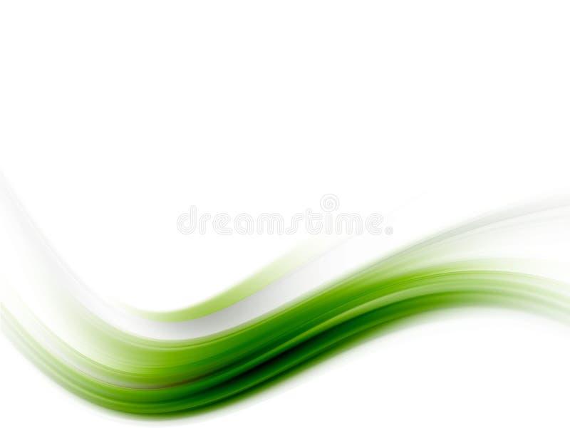 绿色波浪 免版税库存照片