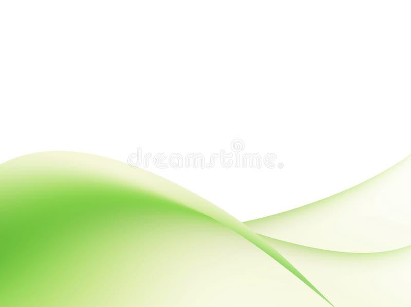 绿色波浪 库存例证