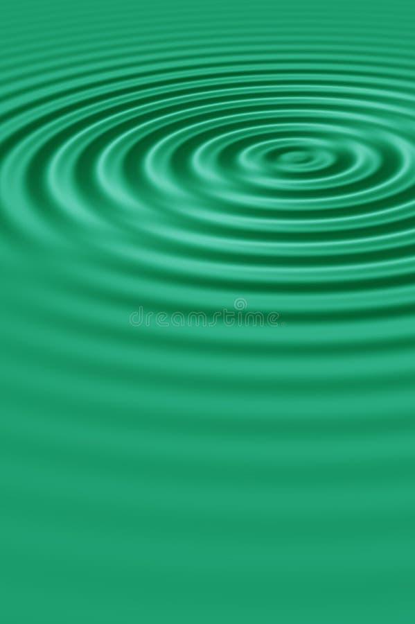 绿色波纹 向量例证