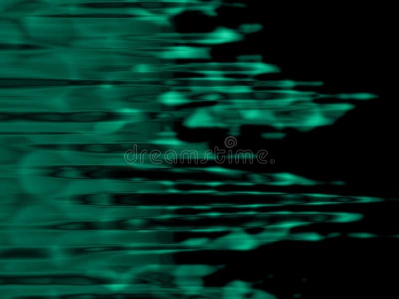 绿色波纹 库存照片