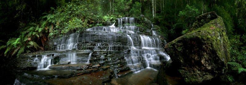 绿色瀑布 免版税图库摄影