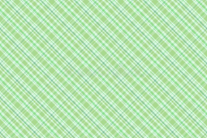 绿色爱尔兰格子花呢披肩水彩样式无缝的样式 皇族释放例证