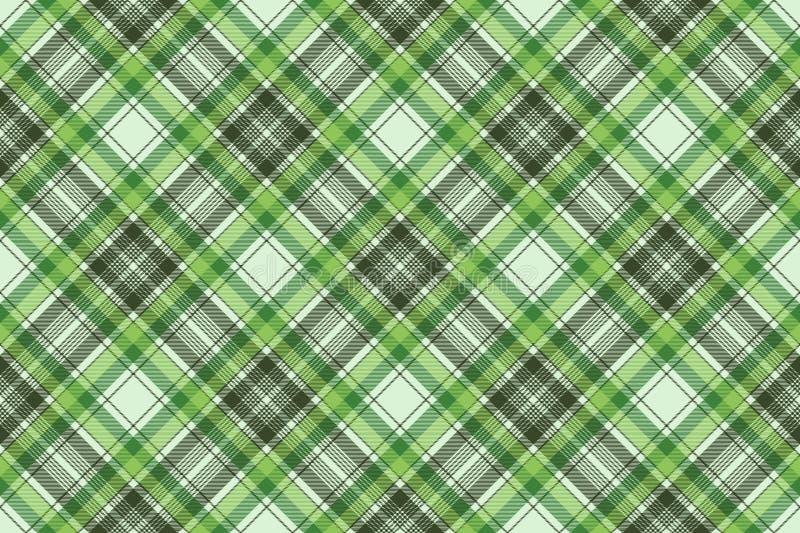 绿色爱尔兰检查格子花呢披肩织品无缝的样式 皇族释放例证