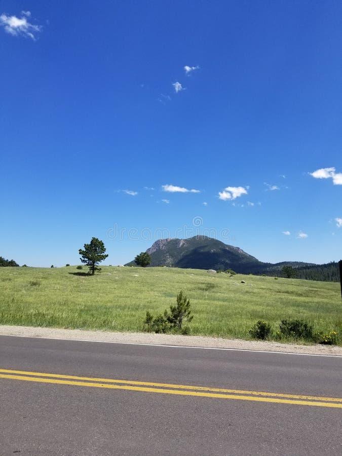 绿色牧场地高速公路科罗拉多 库存图片