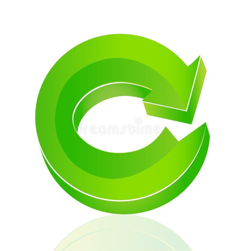 绿色环境箭头回收传染媒介商标 库存例证