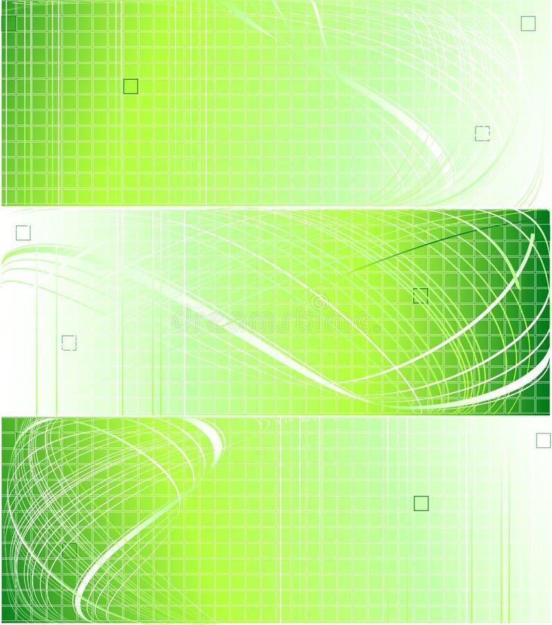 绿色现代三向量 库存例证