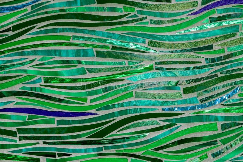 绿色玻璃波浪摘要 库存图片