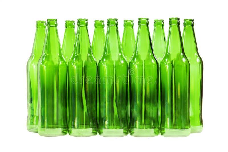 绿色瓶隔绝了 库存照片
